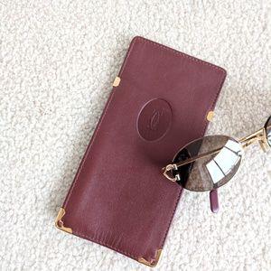 2524f285d450 Authentic CARTIER glasses leather CASE